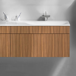 Pli | Mineral cast washbasin incl. vanity unit | Vanity units | burgbad