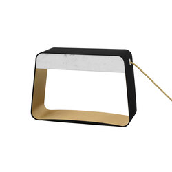Eau de lumière Table lamp Medium Rectangle | General lighting | designheure