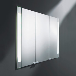 rc40 | Mirror cabinet with vertical LED-light | Armadietti a specchio | burgbad
