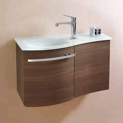 Sinea | Glass washbasin incl. vanity unit | Vanity units | burgbad