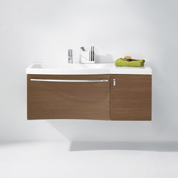 Sinea | Mineral cast washbasin incl. vanity unit | Vanity units | burgbad