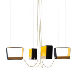 Eau de lumière Chandelier 4 Medium Rectangle | Iluminación general | designheure