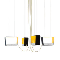 Eau de lumière Chandelier 4 Medium Rectangle | Pendelleuchten | designheure