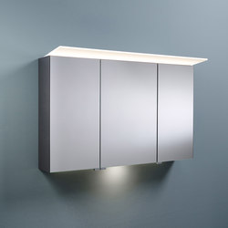 Sys30 | Mirror cabinet with horizontal lighting and indirect lighting of washbasin | Wall cabinets | burgbad