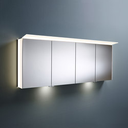 Sys30 | Mirror cabinet with lateral LED illumination incl. indirect lighting of washbasin | Wall cabinets | burgbad