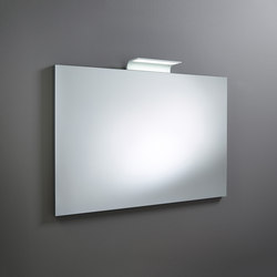 Sys30 | Mirror made to measure ACDK030 LED lighting top | Specchi da parete | burgbad