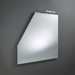 Sys30 | Mirror made to measure ACDJ030 LED lighting top | Specchi da parete | burgbad