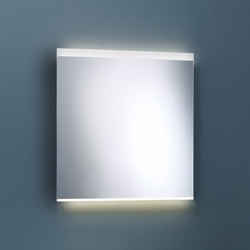 Sys30 | Illuminated mirror with horizontal LED-light | Wall mirrors | burgbad