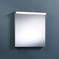 Sys30 | Illuminated mirror with horizontal LED-light | Specchi da parete | burgbad