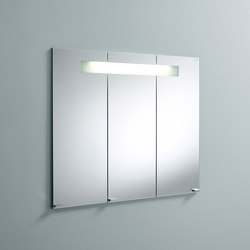 Sys30 | Mirror cabinet with horizontal light to be installed into niche | Armadietti a specchio | burgbad