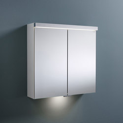 Sys30 | Mirror cabinet with LED-lighting and indirect lighting of washbasin | Wall cabinets | burgbad