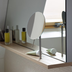 Sys30 | Wall rack incl. magnifying mirror | Bath shelves | burgbad