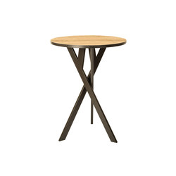 Felber T14 Wood Round High | Tables mange-debout | Dietiker