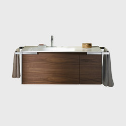 Yso | Ceramic washbasin rectangular incl. vanity unit | Mobili lavabo | burgbad