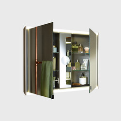 Yso | Mirror cabinet with horizontal LED-lighting | Wall cabinets | burgbad