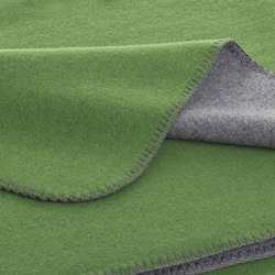 Luisa Double blankets graphite/lime | Couvertures | Steiner