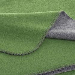 Luisa Double blankets graphite/lime | Coperte | Steiner