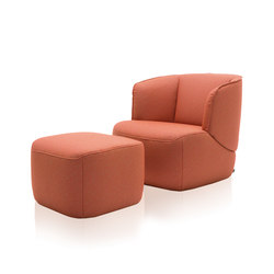 Rolf Benz 384 | Lounge chairs with footstools | Rolf Benz