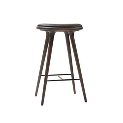 High Stool sirka grey stained oak 74 | Bar stools | Mater