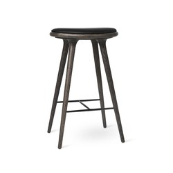 High Stool - Sirka Grey Stained Oak - 74 cm | Bar stools | Mater
