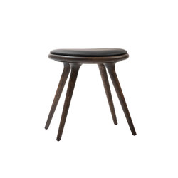High Stool sirka grey stained oak 47 | Polsterhocker | Mater