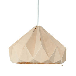 Chestnut – Wooden Origami | General lighting | Studio Snowpuppe