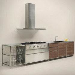 Meccanica | acero inox | Fitted kitchens | Valcucine