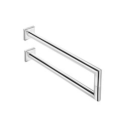 Kubic Class Dual Double Lateral Towel Bar | Towel rails | Pom d'Or