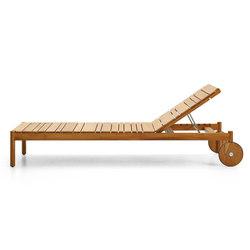 Barcode teak garden adjustable cot | Tumbonas de jardín | Varaschin