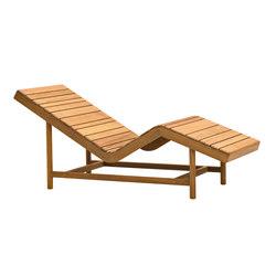 Barcode sauna teak lounger | Tumbonas de jardín | Varaschin