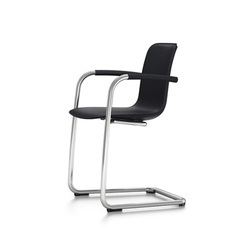 HAL Leather Cantilever Armrest | Visitors chairs / Side chairs | Vitra