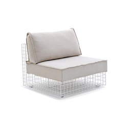 Grid lounge chair | Garden armchairs | Varaschin