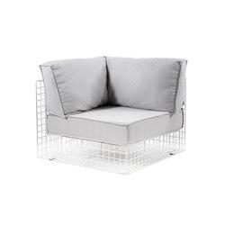 Grid corner | Garden armchairs | Varaschin