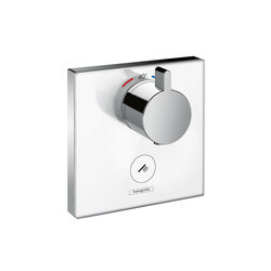 Hansgrohe ShowerSelect glass thermostatic mixer highflow for concealed installation for 1 outlet and additional outlet   Shower taps / mixers   Hansgrohe
