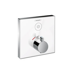 Hansgrohe ShowerSelect glass thermostatic mixer for concealed installation for 1 outlet | Shower taps / mixers | Hansgrohe