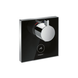 Hansgrohe ShowerSelect Glas Thermostat Highflow Unterputz für 1 Verbraucher und einen zusätzlichen Abgang | Duscharmaturen | Hansgrohe