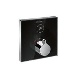 Hansgrohe ShowerSelect Set de finition en verre pour mitigeur thermostatique ShowerSelect E encastré haut débit | Robinetterie de douche | Hansgrohe