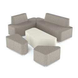 Organic Office Lounge Modules | Modular seating elements | viasit
