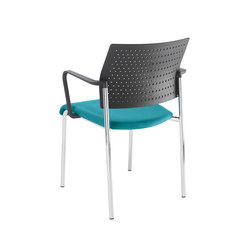 Qubo Four legged chair | Visitors chairs / Side chairs | viasit