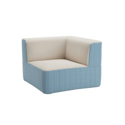 Belt corner armchair | Garden armchairs | Varaschin