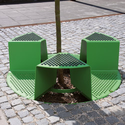 sinus | Tree guard | Benches | mmcité