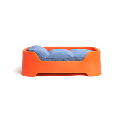 Dog's Palace Small Orange with denim cushion | Dog beds | Wildspirit