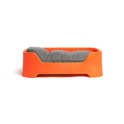 Dog's Palace Small Orange with dark taupe cushion | Living room / Office accessories | Wildspirit