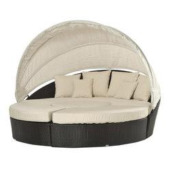 Arena divano circolare in plastica intrecciata | Sedute ad isola | Varaschin