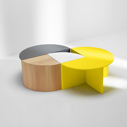 Pie chart system | Combination | Tables basses | H Furniture