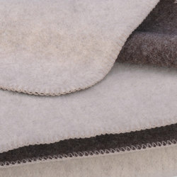 Heidi Blanket snow/murmel | Plaids / Blankets | Steiner