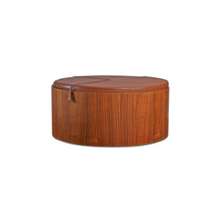 Stoll 90 – Walnut Stained with camel calf leather cushion | Storage boxes | Wildspirit