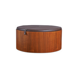 Stoll 90 – Walnut Stained with dark brown calf leather cushion | Behälter / Boxen | Wildspirit