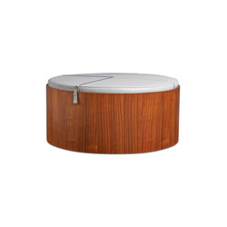 Stoll 90 – Walnut Stained with ivory calf leather cushion | Storage boxes | Wildspirit