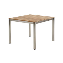 Classic Stainless Steel Teak Dining Table | Dining tables | solpuri
